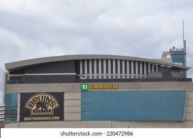 BOSTON, USA - SEP 13: he TD Garden in Boston, as seen on Sep 13, 2014. This is the home stadium of the Boston Bruins hockey team and the Boston Celtics baseball team located in Boston.