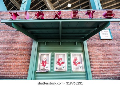 BOSTON, USA - SEPTEMBER 21The Fenway Park Stadium in Boston, MA, home of the Red Sox team, is the oldest baseball stadium still in use in the USA built in 1912 as seen on July 20, 2013.