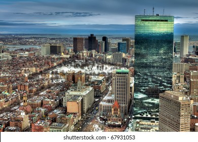 Boston in the winter season.