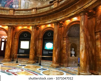 Boston,USA,8 May 2017; The classic interior design architecture of the Massachusetts State House