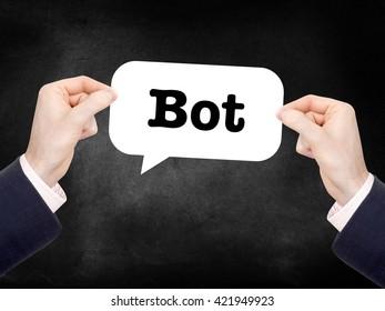 Bot written on a speechbubble