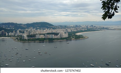 Botafogo bay, Flamengo beach, Downtown, Botafogo and Flamengo neighborhoods and several mountains in this amazing panorama from Rio, captured from the Sugar Loaf.