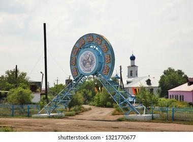 BOTAKARA. KAZAKHSTAN. 07 JUIY 2016 : Holy Trinity Church in Botakara. Karaganda Oblast. Kazakhstan