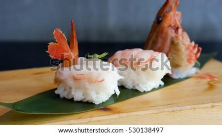 Botan Ebi Sushi Ama Ebi Sushi 5 Stock Photo Edit Now 530138497