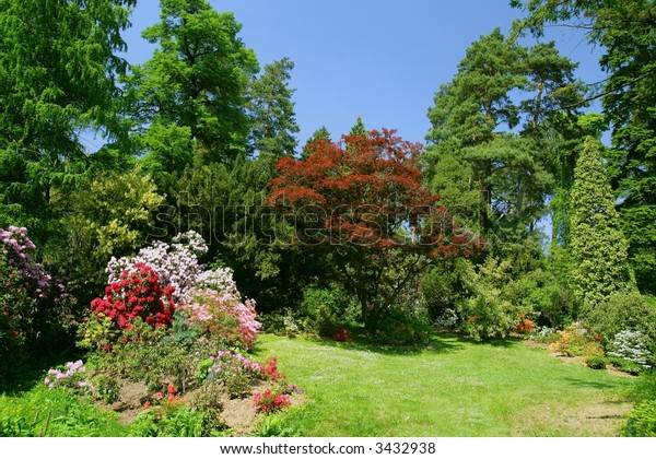 The Botanic Gardens - beauty colored garden on  spring