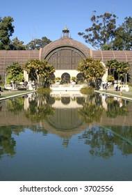Botanical building and lily pond, Balboa Park San Diego