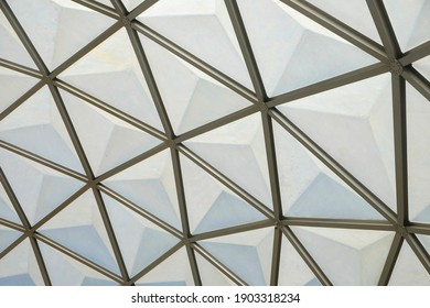 botanical dome glass roof pattern