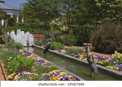 Botanical Garden in North Carolina with Fountains
