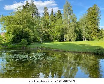 The Botanical Garden of the University of Zurich or Botanischer Garten der Universität Zürich (Botanischer Garten der Universitat Zurich - Botanischer Garten der Universitaet Zuerich), Switzerland - Shutterstock ID 1987982783