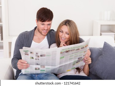 Both read recent article dealing relationships from newspaper.