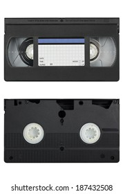 both sides of videotape isolated