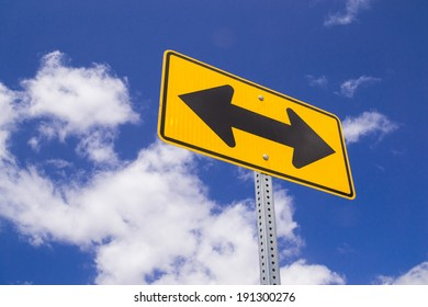 """The """"Both Ways"""" sign in the Southern California desert."""