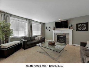 Bothell, WA / USA - March 6, 2018: Modern living room interior