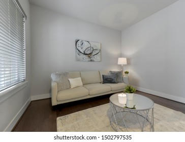 Bothell, WA / USA - Sept. 11, 2019: Residential living room interior