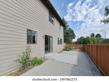Bothell, WA / USA - Sept. 3, 2019: Residential back exterior