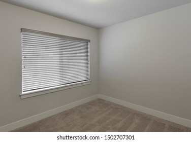 Bothell, WA / USA - Sept. 3, 2019: Empty residential bedroom interior