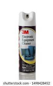 BOTHELL, WA/USA- September 07, 2019: 3M Electronic Equipment Cleaner can logo isolated on white background