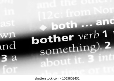bother word in a dictionary. bother concept.