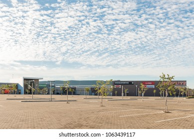 BOTSHABELO, SOUTH AFRICA - MARCH 12, 2018: Businesses at the Mall in Botshabelo, a town in the Mangaung Municipality of the Free State Province