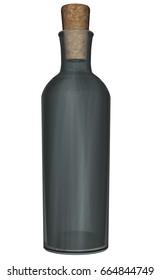 Bottle - 3D render