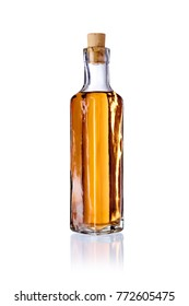 bottle with alcohol, isolated