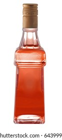 A bottle of alcohol on white background