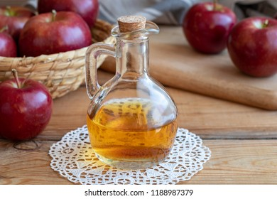 A bottle of apple cider vinegar