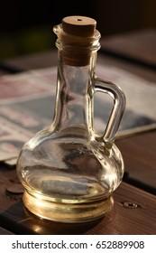 bottle of apple vinegar