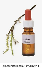 Bottle with Bach Flower Stock Remedy, Aspen (Populus)