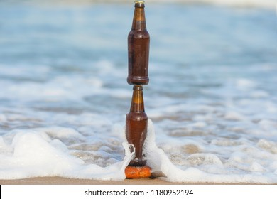 bottle of beer foam