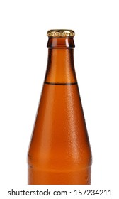 Bottle of beer isolated on white.  Isolated on a white background