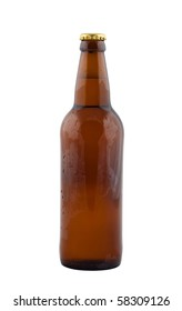 Bottle of beer isolated on white background.
