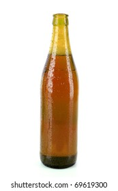 bottle of beer isolated on white