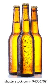 bottle beer isolated on white background