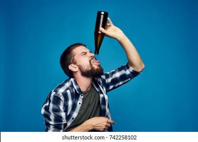 bottle, beer, male alcoholism