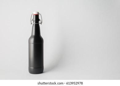 Bottle of beer on stage, Mock-up.