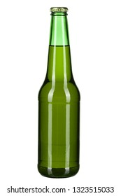bottle with beer on white background