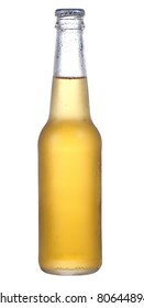 bottle of beer on the white background