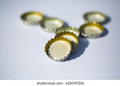Bottle cap on white background,