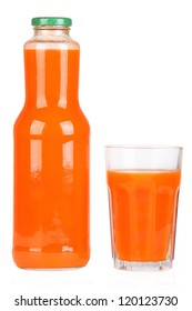 Bottle of carrot juice
