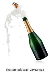 Bottle of champagne pop