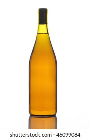 Bottle of Chardonnay Wine isolated on white no label vertical format