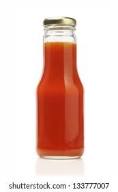 Bottle of Chili Sauce On White Background