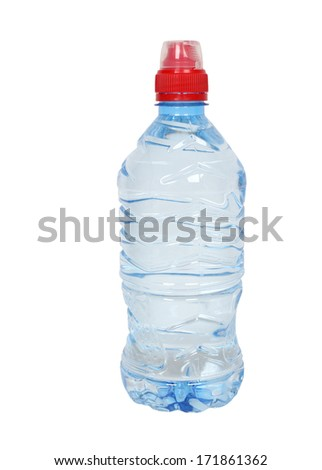 bottle clear drinking water on white stock photo edit now