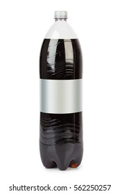 Bottle of cola soda isolated on a white background