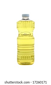 Bottle of cooking oil.