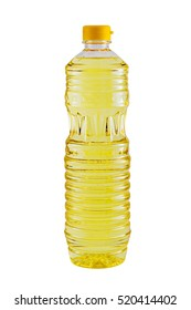 Bottle of cooking oil isolated on white background