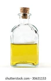 Bottle filled with olive oil