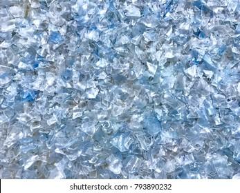 Bottle flake,PET bottle flake,Plastic bottle crushed,Small pieces of cut blue plastic bottles