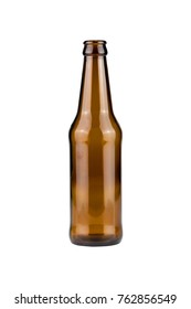 bottle glass isolated on a white backgroun - clipping paths